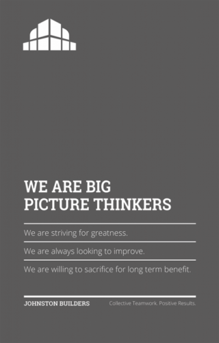We Are Big Picture Thinkers