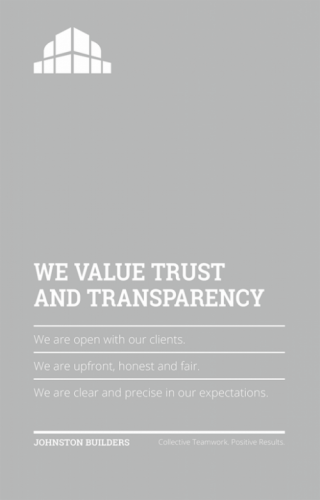 We Value Trust and Transparency