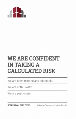 We Are Confident in Taking a Calculated Risk